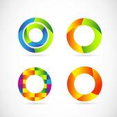 Circle logo set — Vecteur