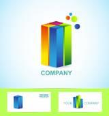 Emlak iş kurumsal logo simge — Stok Vektör