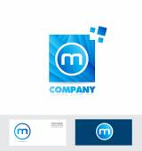 Letter M logo icon — Stock Vector