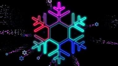 Abstract Christmas Snow — Stock Video