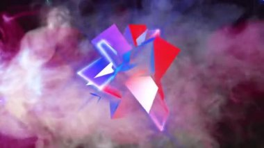 3d colorful  Thorn — Stock Video