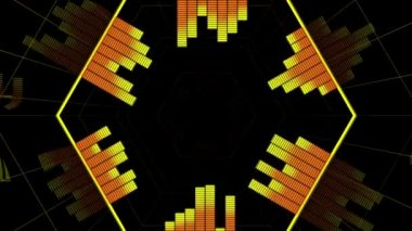 Abstract Hot Equalizer background — Vidéo