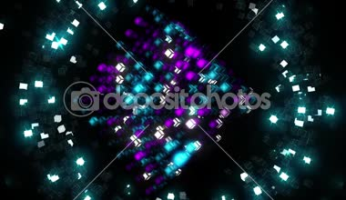 Blink Pixel Cube — Stock Video