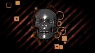 Abstract Polygon Skull background — Vídeo de stock