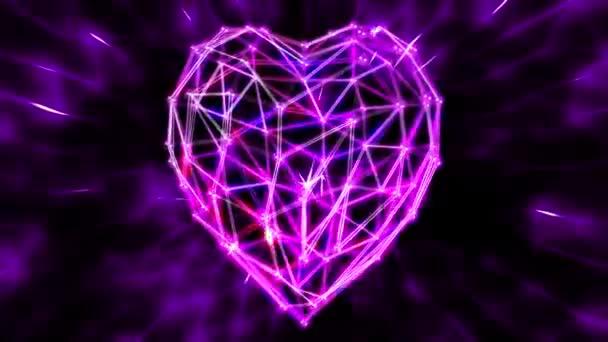 Fondo abstracto de corazón — Vídeo de stock