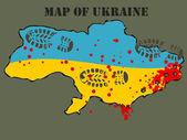 Mappa di Ucraina — Foto Stock