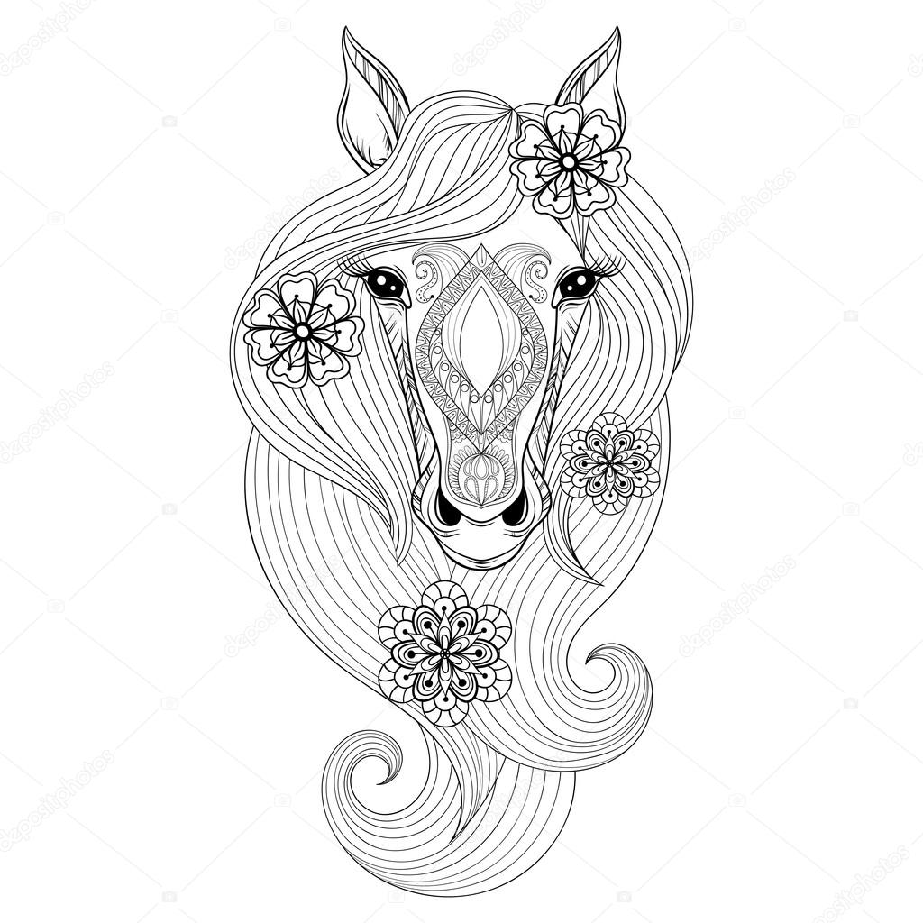horse face coloring pages - photo#32