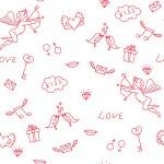 Love seamless pattern — Stock Vector #64060547