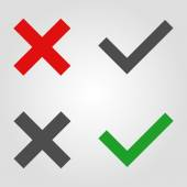 Approved and rejected icons — Stock Vector
