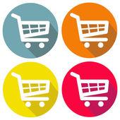 Shopping cart set icon — Vetor de Stock