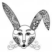 Hare, rabbit doodle style. Hand drawn illustration. — Wektor stockowy