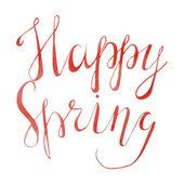 Inscription  Happy Spring — Vetor de Stock