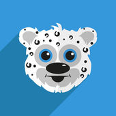 Cheetah with a long shadow — Stock Vector