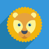 Lion with a long shadow — Stock Vector