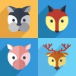 Set of different animals — Stock Vector #63062007