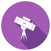 Flat Icon of telescope — Stock Vector