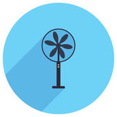 Flat Icon of ventilator — Stock Vector