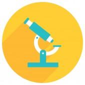 Flat image of microscope — Vetor de Stock