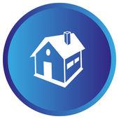 Flache Symbol des Hauses — Stockvektor