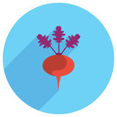 Flat Icon of beetroot — Stock Vector