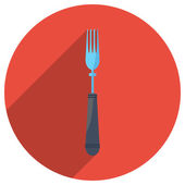 Flat icon of fork — Stock Vector