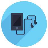 Flat Icon of MP3 Player — 图库矢量图片