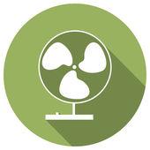 Flat Icon of fan — Vector de stock
