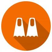 Flat Icon of flippers — ストックベクタ