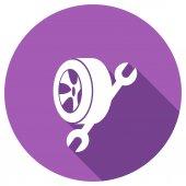 Tekerlek anahtarı düz simgesi — Stok Vektör