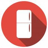Buzdolabı düz simgesi — Stok Vektör
