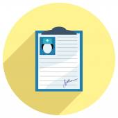 Flat Icon of medical record — Stock Vector