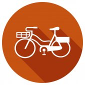 Flat Icon of bicycle — Stockvektor