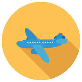 Flat Icon of airplane — Stock Vector