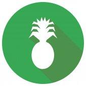 Flat Icon of ananas — Vecteur