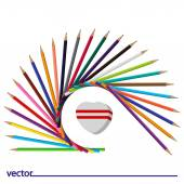 Icon of colored pencils — Stock Vector