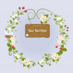 Blossom Frame Fairy Message Text Love Bird Romantic Wreath Vector Illustration — Stock Vector #63151121