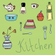 Постер, плакат: Set of kitchen items