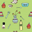Постер, плакат: Pattern with kitchen items