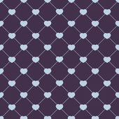 Hearts on diamond-shaped background — Cтоковый вектор