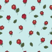 Padrão de romântico com rosas — Vetor de Stock