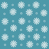 Pattern with cute snowflakes — Stock Vector