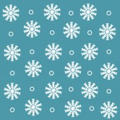 Mönster med söta snöflingor — Stockvektor