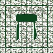 Hebrew letter het — Vector de stock