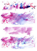 A set of watercolour textures — Stock Photo