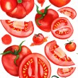 Seamless watercolor tomatoes background — 图库照片 #72881245