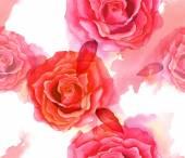 Винтажном стиле акварель Роза бесшовных фоновый узор — Стоковое фото