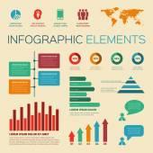 Vintage retro infographics elements — Stock Vector