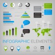Set of infographic vector elements with world map and icons. — Stock Vector #70183169