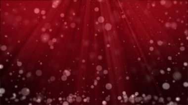 Red Background With Particles and Spotlights — Stock Video