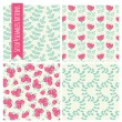 Seamless patterns with flowers — Stock Vector #62721031